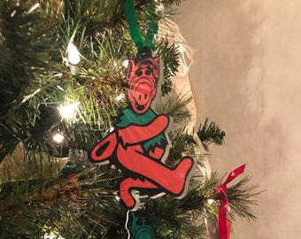 Limited Edition Deadheads from Melmac ORANGE Christmas Ornament