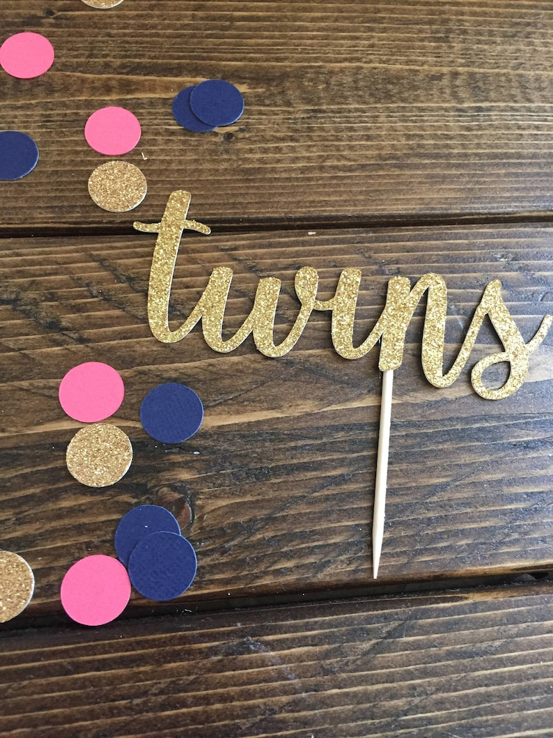 Twins Cake Topper Twin Baby Shower Cake Topper Twin Baby ...