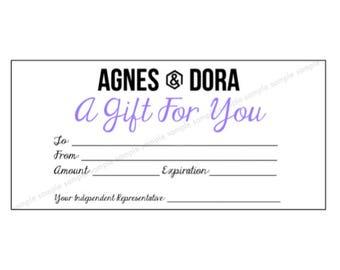 Printable Gift Certificate Lipsense Senegence Gift Card Etsy