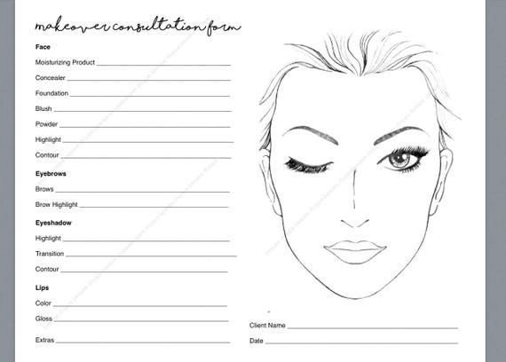 printable makeup consultation form