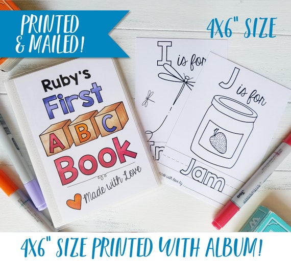 Personalized Abc Book Baby Shower Activity Alphabet Baby Etsy