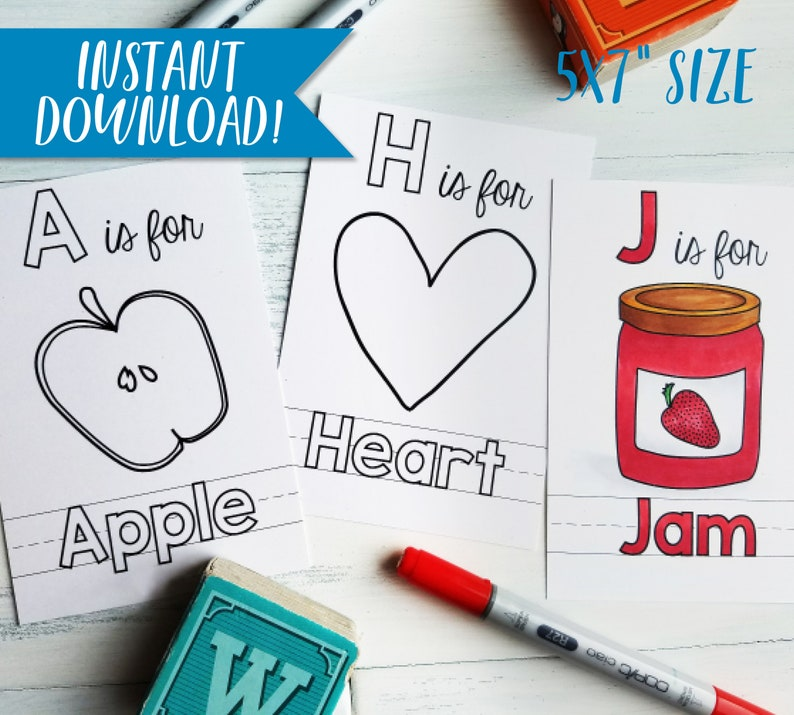 Alphabet Coloring Book Personalized Pdf Download Etsyrhetsy: Alphabet Coloring Pages Download At Baymontmadison.com
