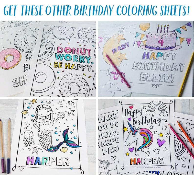 Mermaid Shark Birthday Party Coloring Sheet Party Favors ...