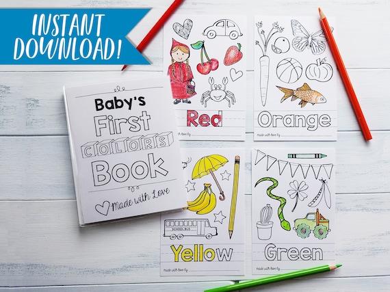 Colors Coloring Book PDF Download Sheets DIY