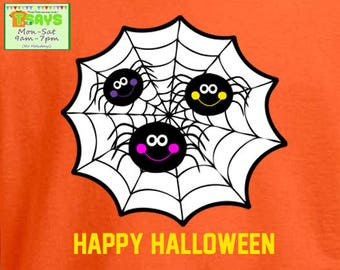 Halloween spiders and spiderweb shirt, halloween shirt, spiders and cobweb