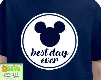 Best Day Ever, Disney family shirts, Disney family trip, Disney family vacation, Personalized shirts