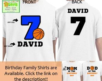 Basketball Birthday Shirts for Family  88bf29a88