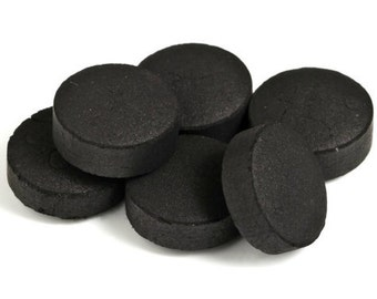 Charcoal Disks for Smudge, Resin, Incense, Hookah - 33mm Disks, Smokeless, Tasteless, Odorless, Coal, 1 Pack 10 Disks