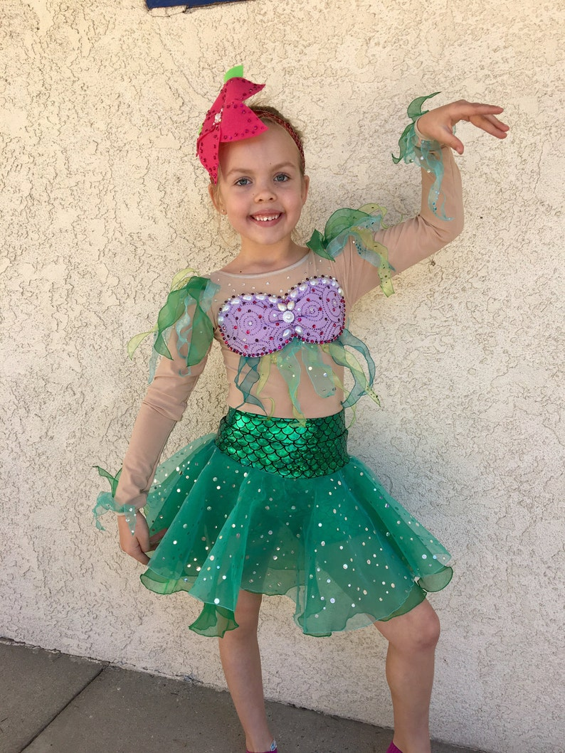 967da7e528 Ariel Costume Figure Skating Show Dance Recital Skirt Costume | Etsy