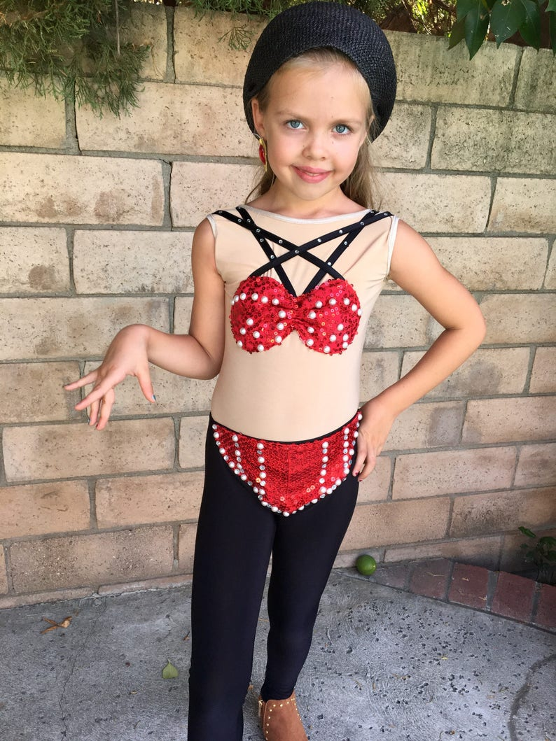 3cb00067c Selena Costume Red Recital outfit Girl Size | Etsy
