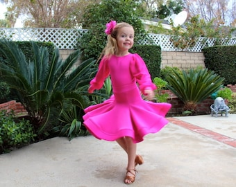 Dance Ballroom Dress Competition Basic Dancing Dress Size 5Y,6Y,7Y,8Y,9Y,10Y  any color