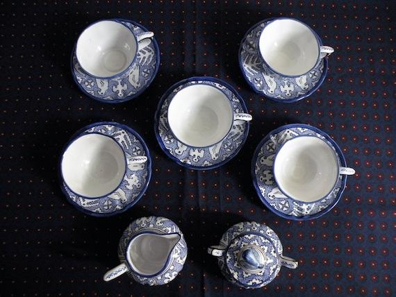 Vintage ceramiche deruta hand painted tray antipasto platter