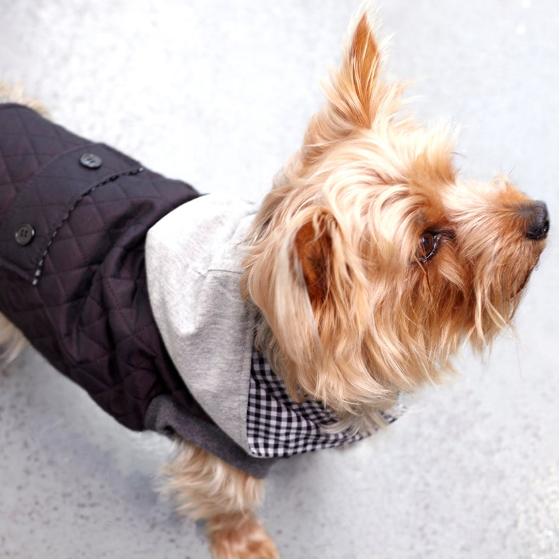 Dog clothes Jacket with hoodie image 0