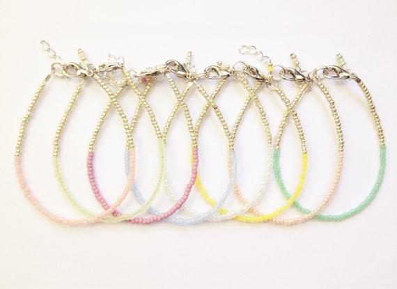 Single color Stackable  Baby Bracelet, girl baby bracelet, newborn bracelet, mommy and me, toddler bracelet, mothers day, bridesmaid