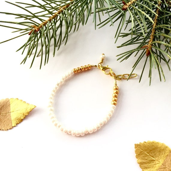Ivory single strand stacking Baby Bracelet, girl baby bracelet, newborn bracelet, mommy and me, toddler bracelet, baby shower gift