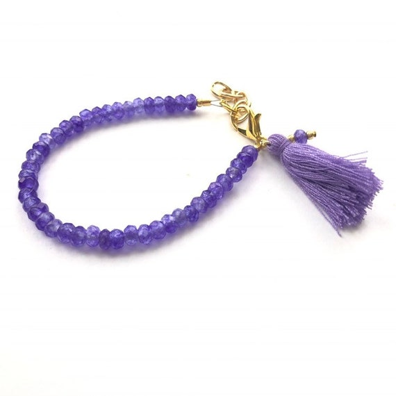 Baby Bracelet, Tassel Baby Bracelet, Baby Gifts, Little Girl Bracelet, Personalized Girl Gift, New Baby Gift, Purple Bracelet