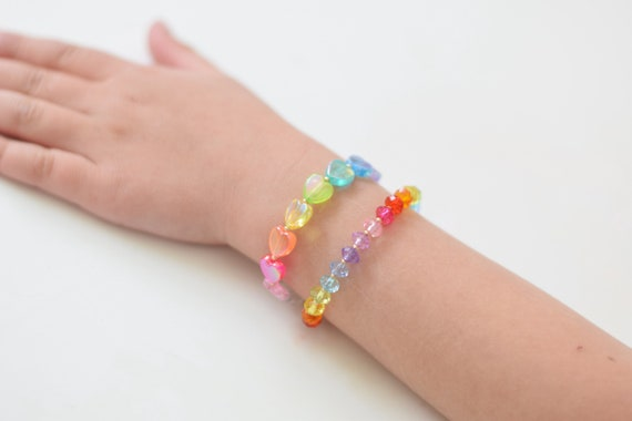 Baby Bracelet, Personalized Baby Bracelet, Baby Gifts, Little Girl Bracelet, Personalized Girl Gift, New Baby Gift, Rainbow Bracelet