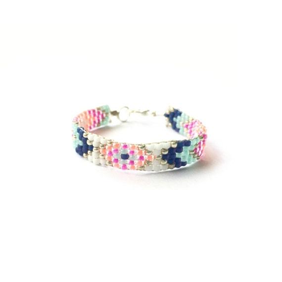 Baby Bracelet, Personalized Baby Bracelet, Baby Gifts, Little Girl Bracelet, Personalized Girl Gift, New Baby Gift, Sweet & Silver aztec