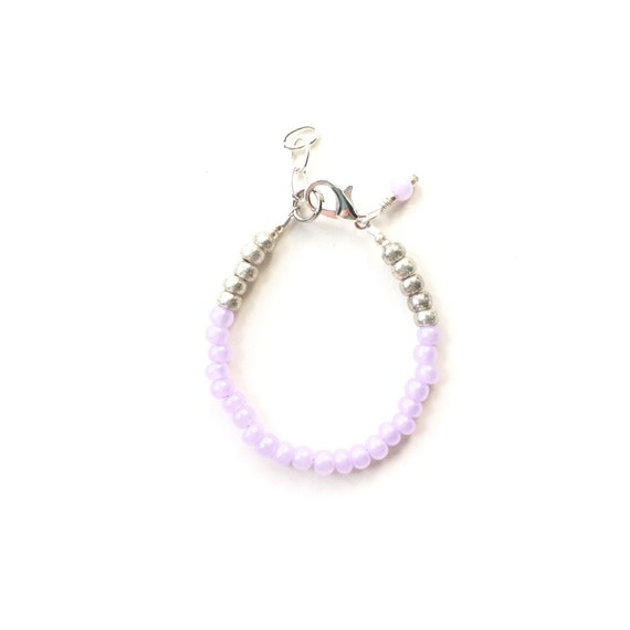 Lavender single strand stacking Baby Bracelet, girl baby bracelet, newborn bracelet, mommy and me, toddler bracelet, mothers day girls