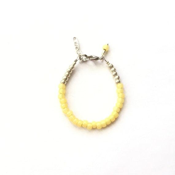 Banana single strand stacking Baby Bracelet, girl baby bracelet, newborn bracelet, mommy and me, toddler bracelet, mothers day gift