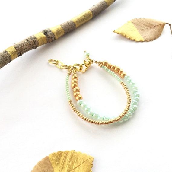 Baby Bracelet - Gold Baby Bracelet - Silver Baby Bracelet - Mommy And Me Bracelets - Mint Bracelets - Mint Baby Bracelets - Baby Shower Gift