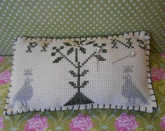 Pincushion Cross Stitch Embroidered