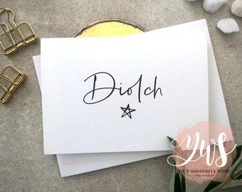 Diolch! - Welsh Thank you! - A6 Greetings card - Cardiau Cymraeg - Welsh Card