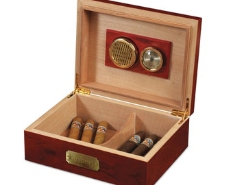 Cherry Wood Cigar Humidor (e186-1112) - Free Personalization