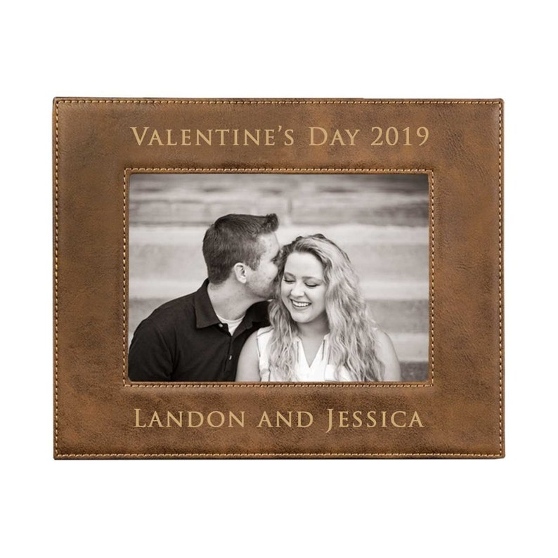 5x7 Personalized Gift Bridesmaid Gift Christmas Gift or 8x10 frame 4x6 Laserable Leatherette Photo Frame Custom Picture Frame