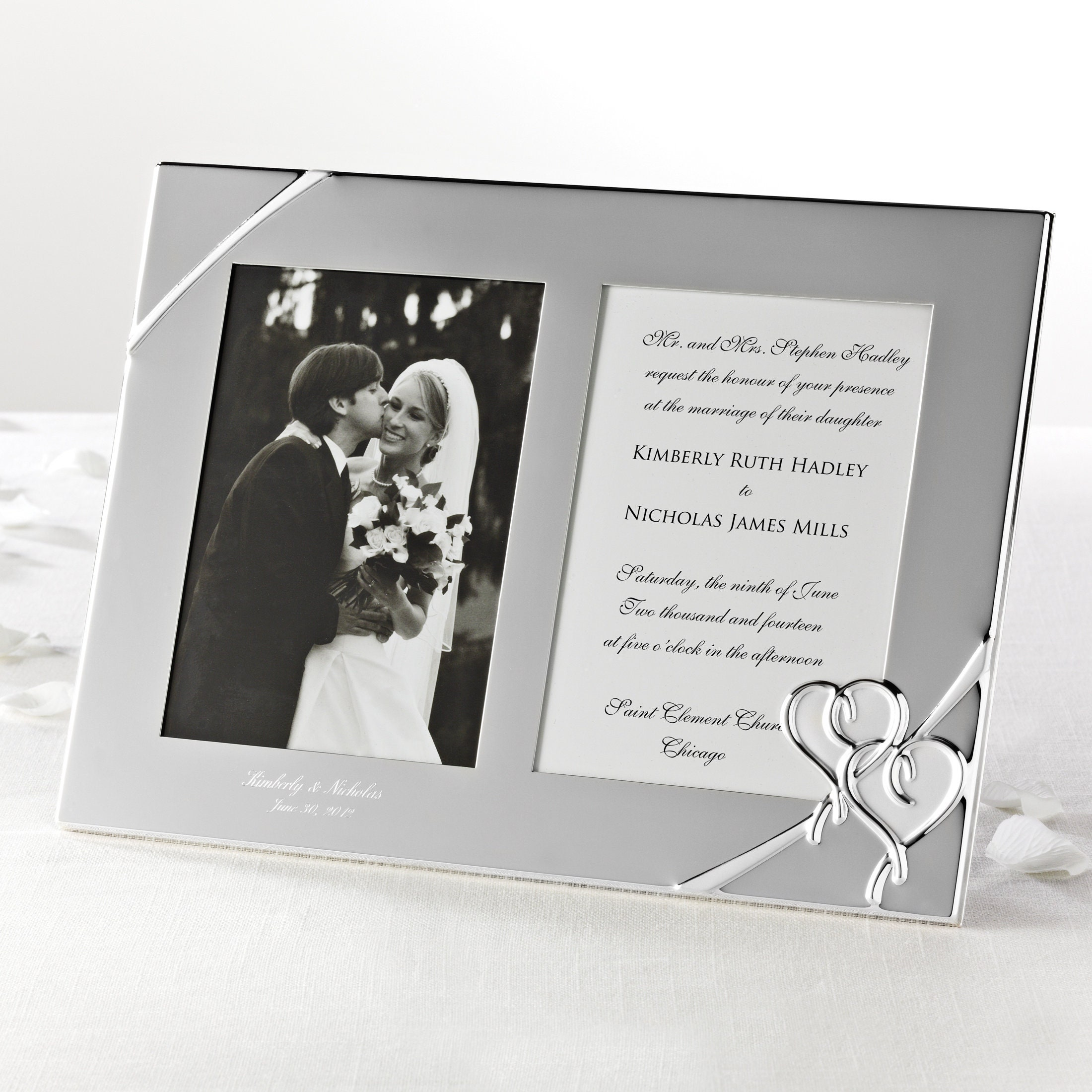 acd2bd586b7 Lenox True Love Wedding Invitation Frame Personalized Photo