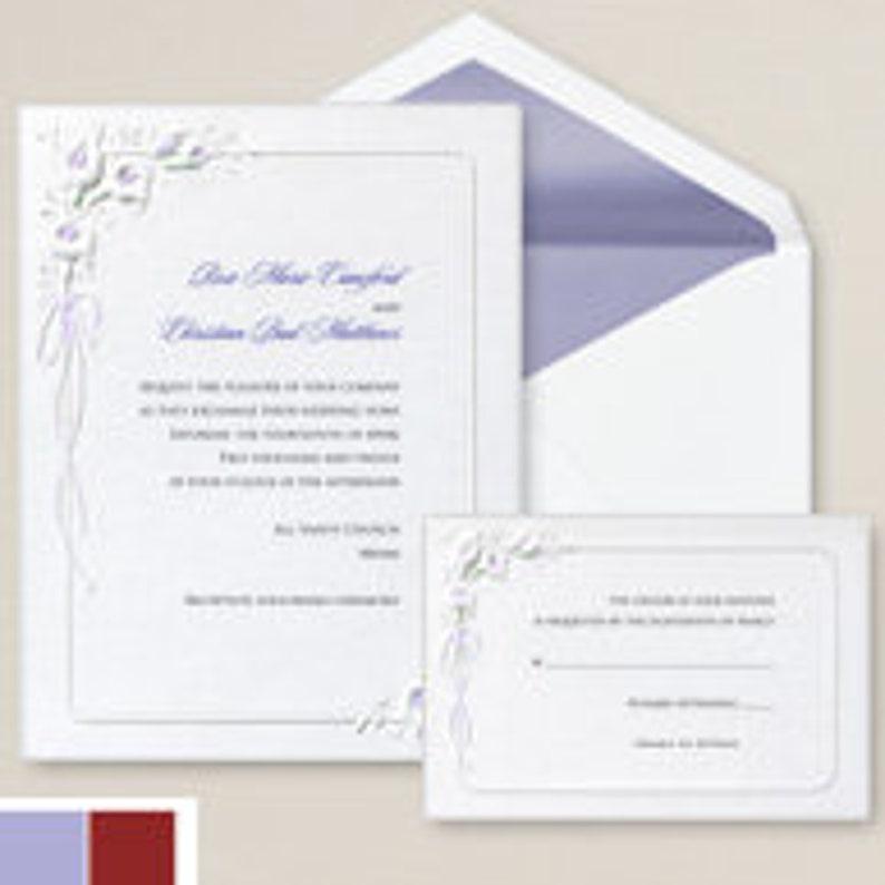 Calla Lilies Wedding Invitation Set