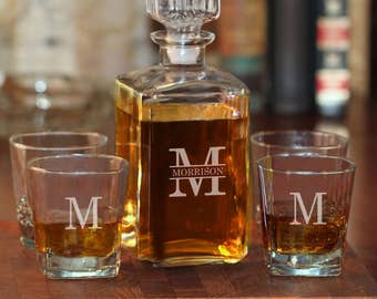 Personalized Whiskey Decanter Set | 101-1210-2 | Father's Day | Whiskey Gift Set | Gifts for Men | Groomsman Gift  | Groomsmen Gifts |