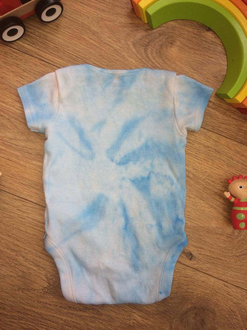Tie dye 0-3 months vest blue boy babygrow tie dye babies outfit short sleeve vest hippie boho gift babyshower tye dye gift newborn gifts
