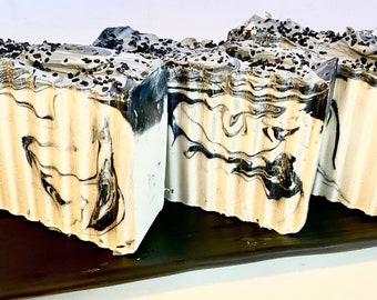 Cold Process Black Salt and Cypress Moisturizing Soap Bar