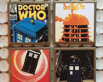 COASTERS! Doctor Who coasters with gold trim