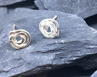 Sterling Silver Knot Studs for Women