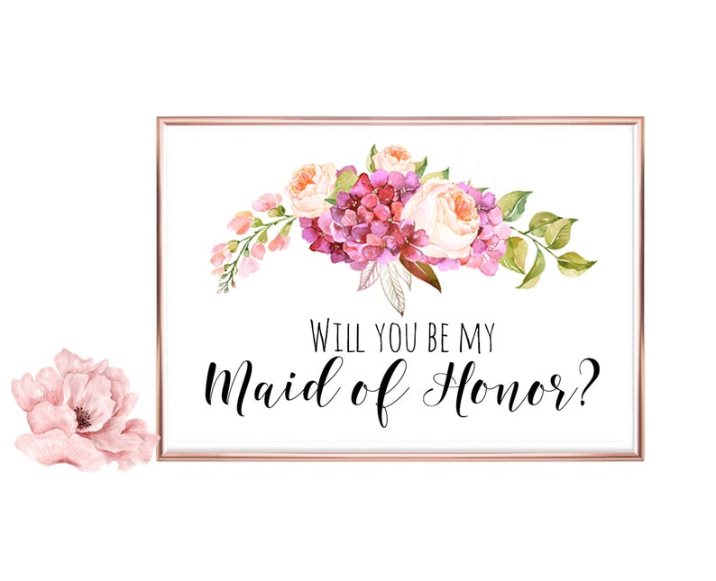 photo about Will You Be My Maid of Honor Printable known as Will Yourself Be My Maid of Honor Printable, Wedding day Card, Calligraphy Printable, Do it yourself Marriage ceremony, Bridal Proposal, Electronic Obtain