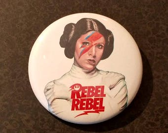 Star Wars Rebel Princess Leia Bowie FREE BUTTON when you order a magnet special