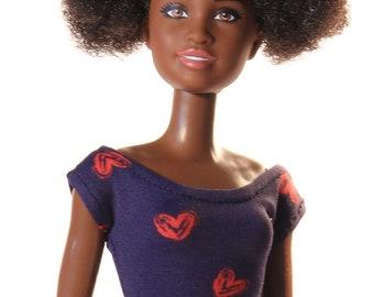 Handmade clothes for Barbie (T-shirt): Mia