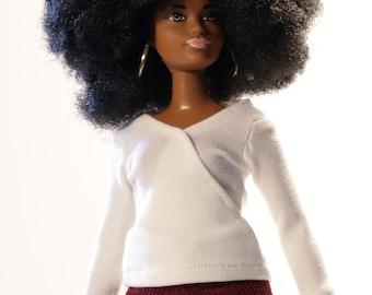 Handmade clothes for Barbie Curvy (bluse): Virag