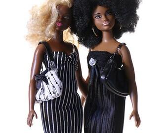 Handmade clothes for Barbie CURVY (dress set): Pinkscroll set XVIII.