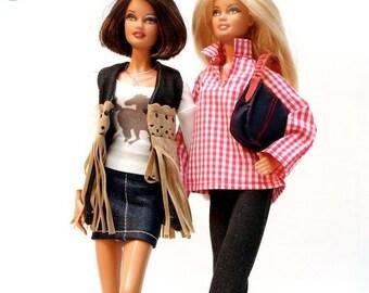 Handmade clothes for Barbie (dress set): Pinkscroll set IV.