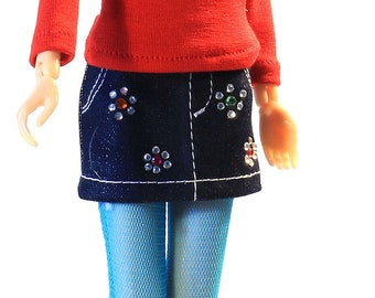 Momoko clothes (skirt): Cordoba
