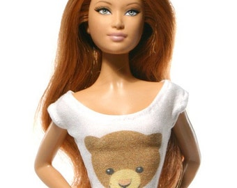 Handmade clothes for Barbie (T-shirt): Bear