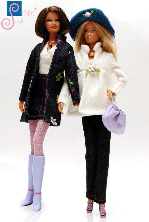 Pinkscroll set IV. Handmade clothes for Barbie dress set