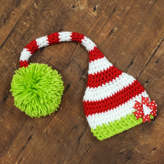 Nikolausmütze Santa Hut häkeln häkeln Elf hustet Weihnachten | Etsy