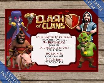9 Clash Of Clan Printable Tshirts Digital Download Clash Of Etsy