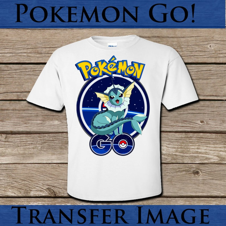 Pokemon Go Vaporeon Tshirt transfer! Digital Download! Printable Tshirt  image! Iron on