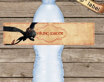 How to train your dragon etsy how to train your dragon 2 bottle labels birthday labels dragons 2 water bottle ccuart Image collections