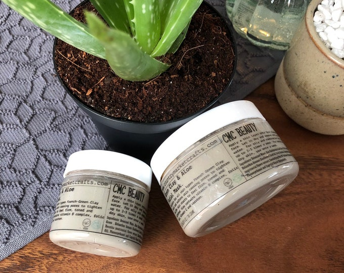Green Clay & Aloe  Facial Mask - Facial - Spa - Vegan - Natural